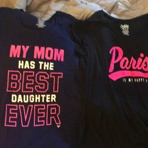 Girls tee shirts